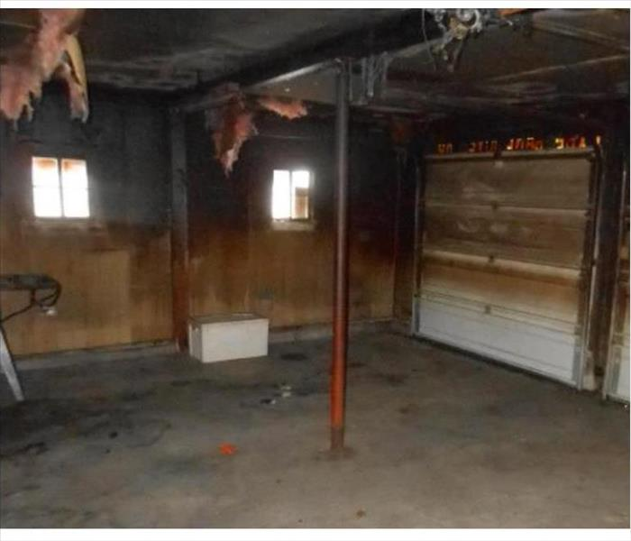 Fire Damage to a Madison Garage Before