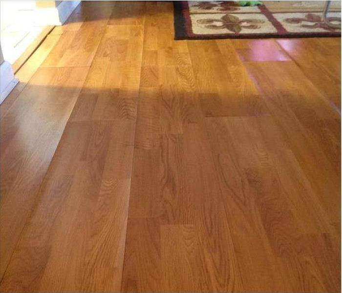 Water Damages Laminate Flooring in Nashville Before