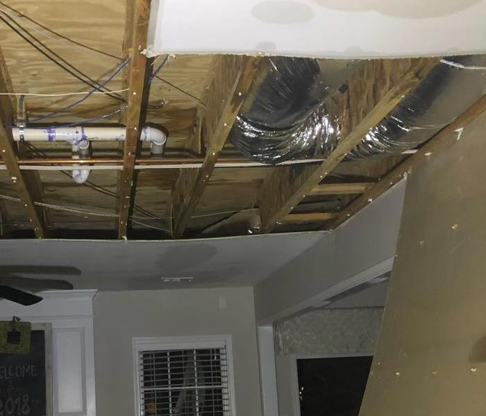 Two story water damage in East Nashville